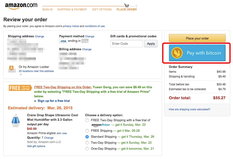 Coinjay - Pay with bitcoin on Amazon